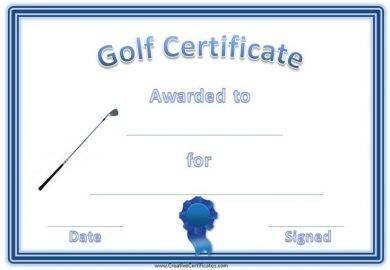 golf certificate1