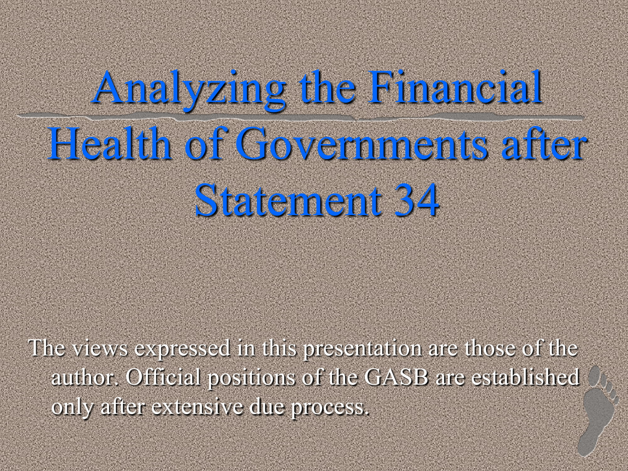 government financial health analysis example