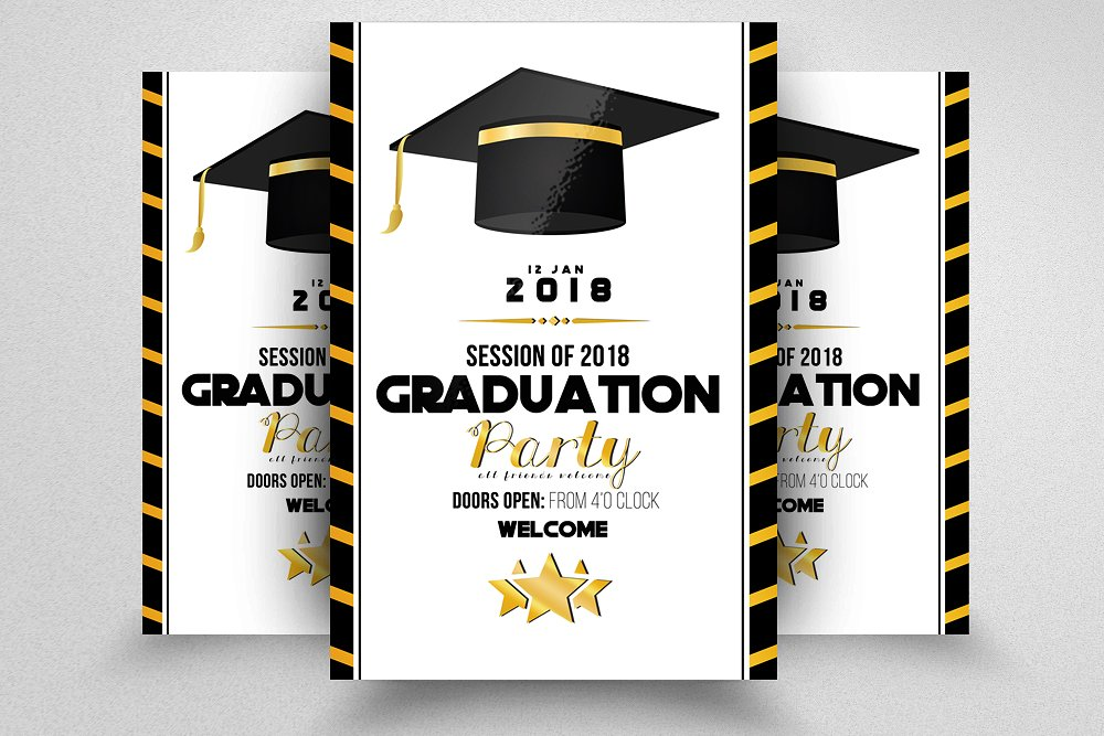 graduation party announcement template example