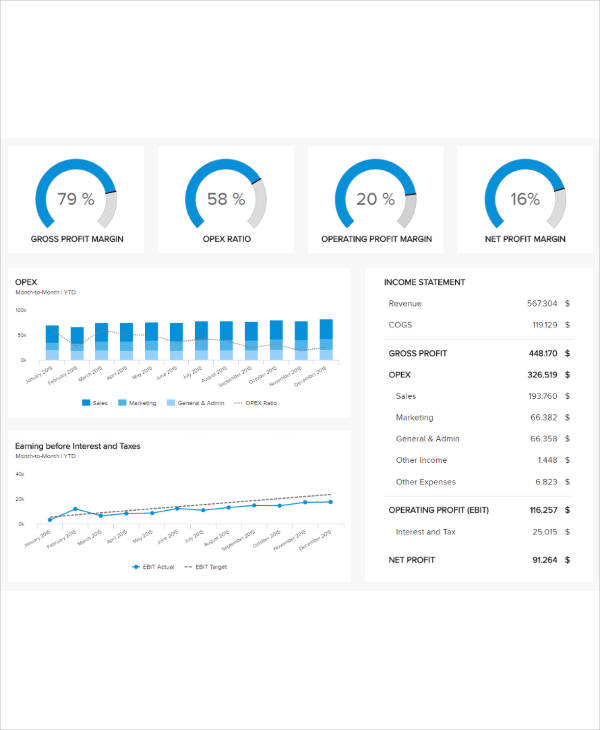 graphic business report