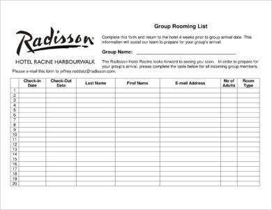 group rooming list example1