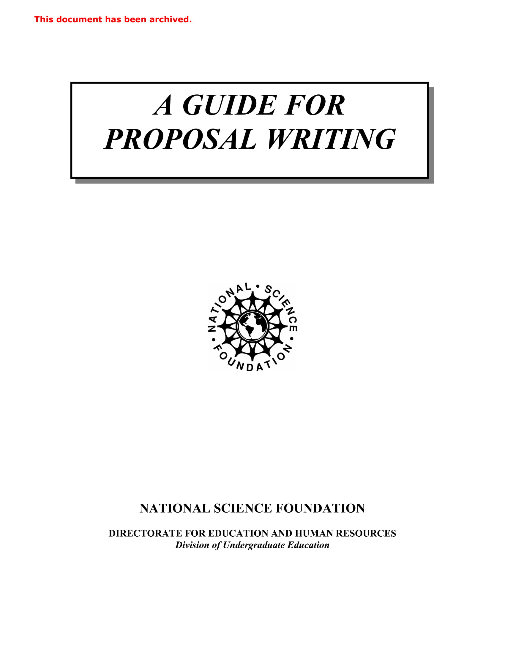 guide for proposal writing example 01