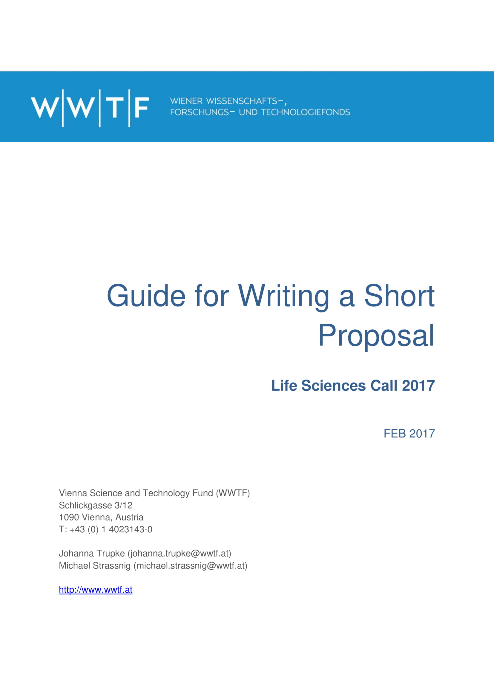 guide for writing a short proposal example 1