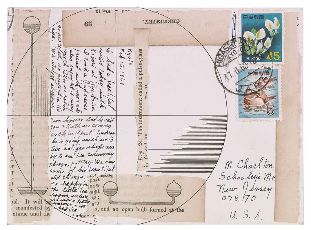 handcrafted postcard and letter by lenore tawney