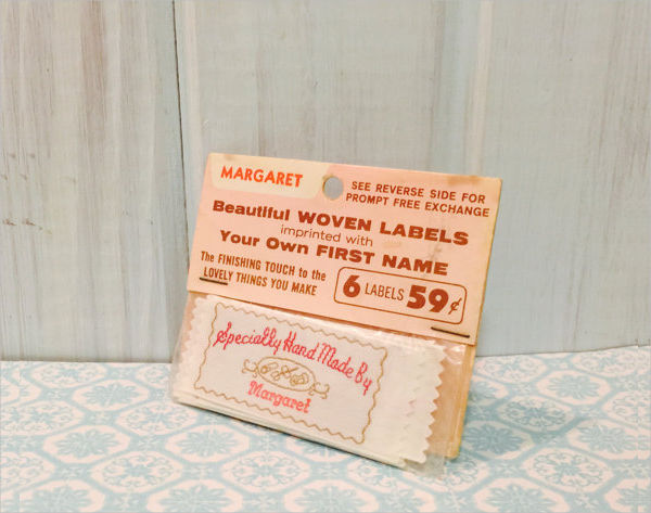 handmade vintage label example1
