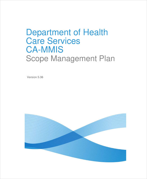 health dept scope management plan example