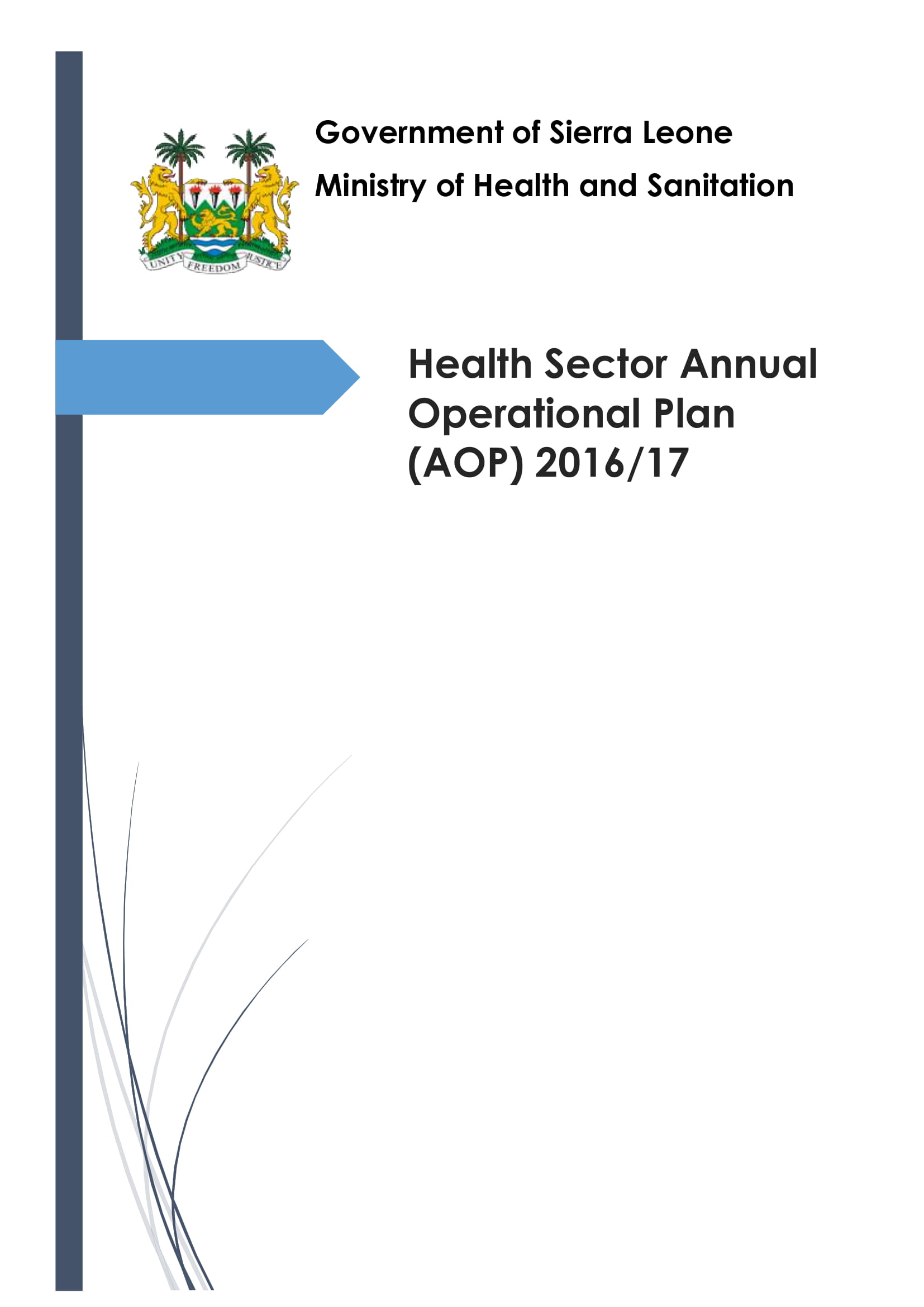 health sector annual operational plan example 001