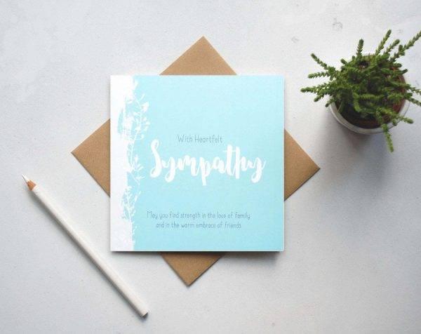 heartfelt sympathy greeting card example1