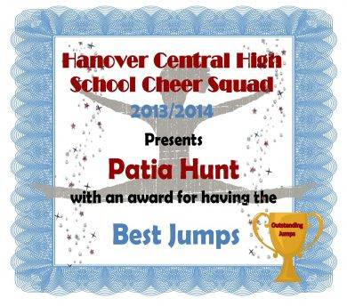 high school cheer squad award certifcate1