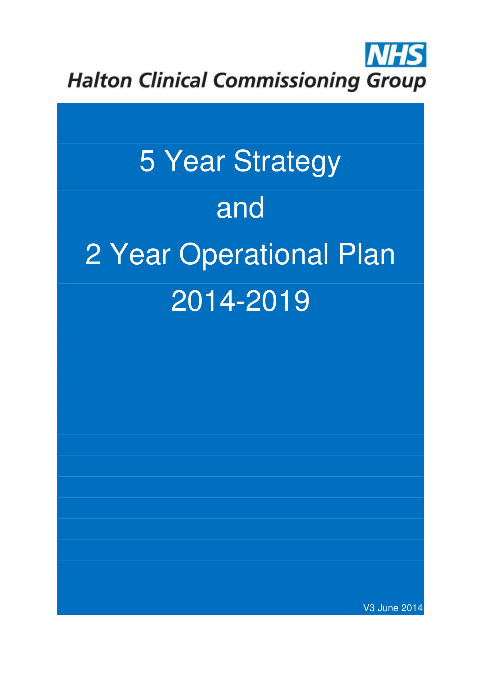 hospital five year strategy and two year operational plan 001