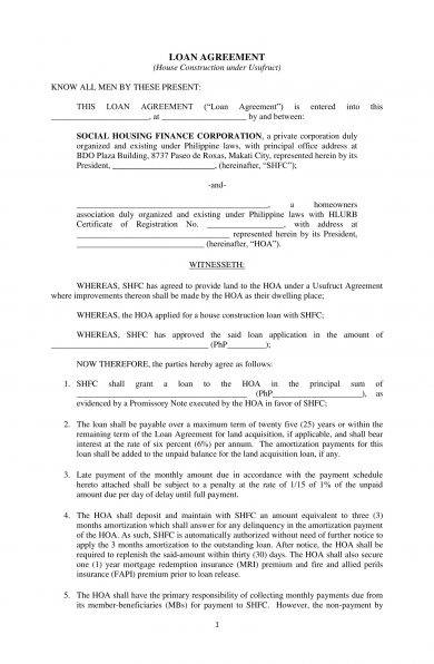 9 Construction Loan Agreement Examples Pdf