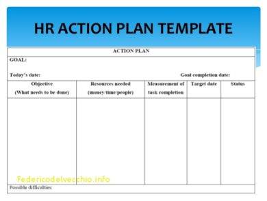 9 hr strategy plan examples pdf for Human resources action plan template