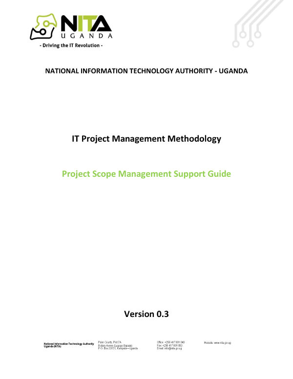 it project scope management plan example