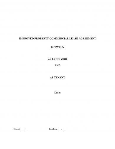 improved property commercial lease agreement example1