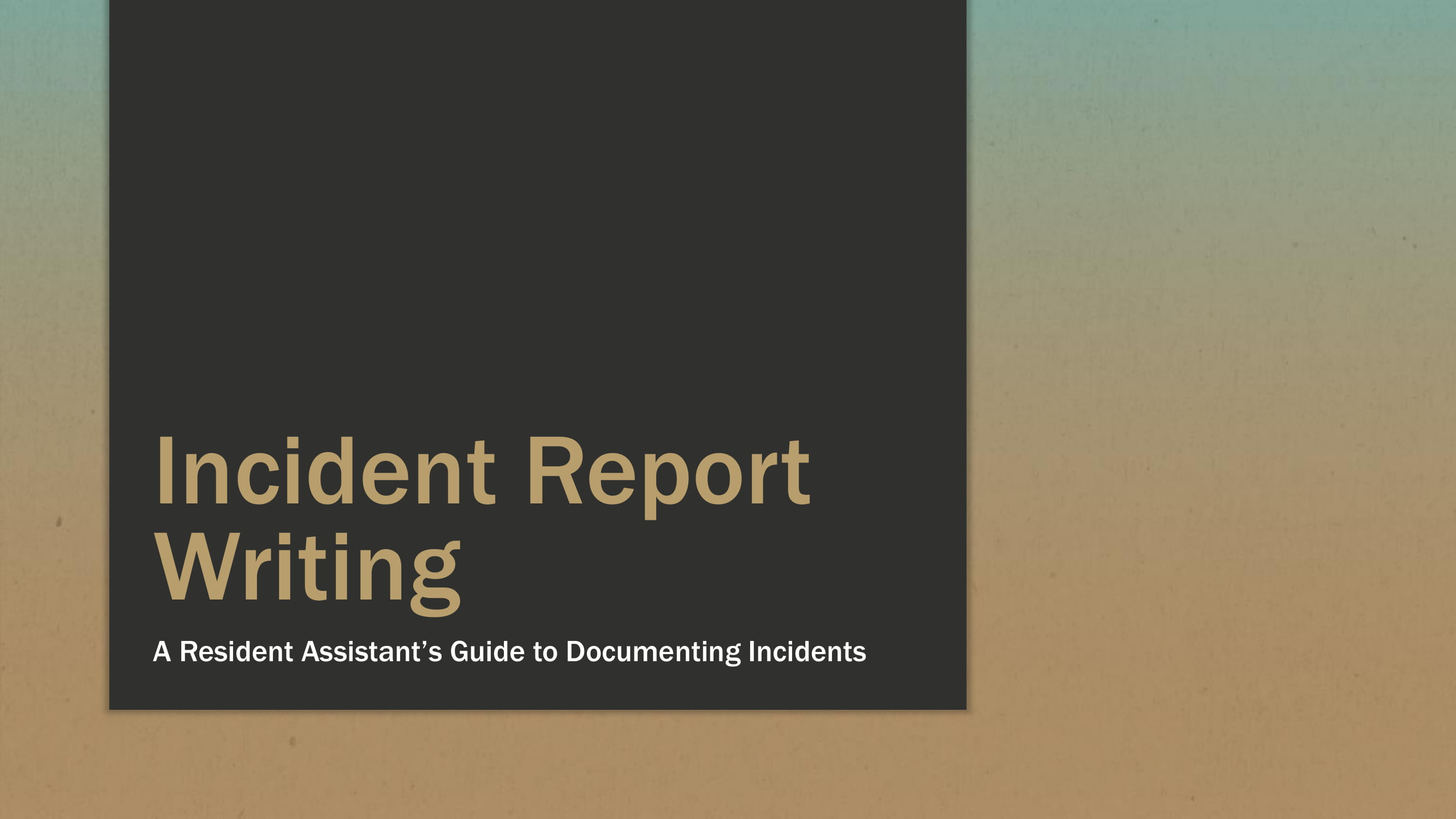 incident report writing example 01