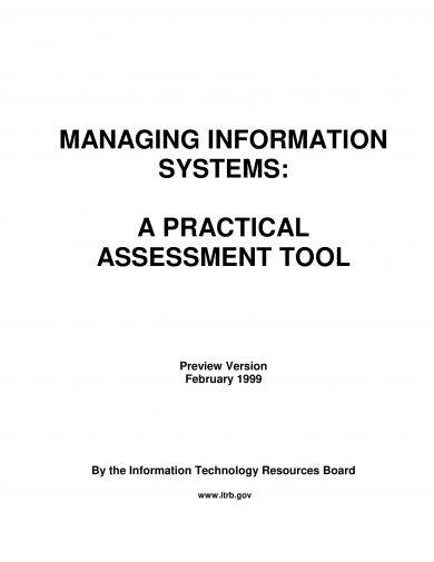 information systems assessment and management tool example