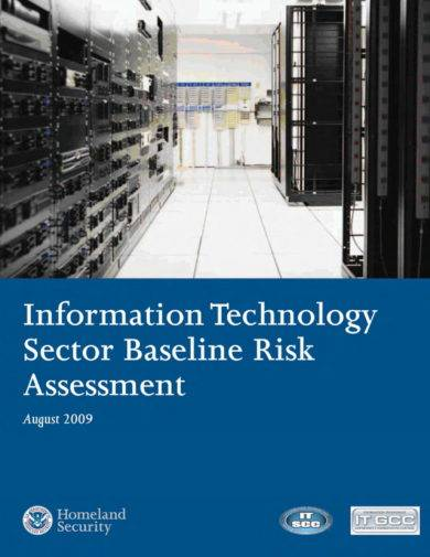 information technology sector baseline assessment example