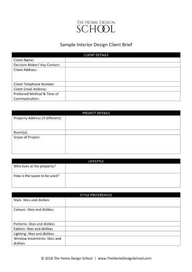 14+ Design Brief Template Examples - PDF | Examples