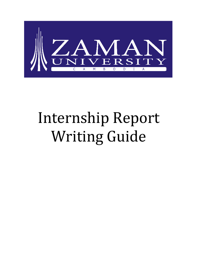 internship report writing guide example