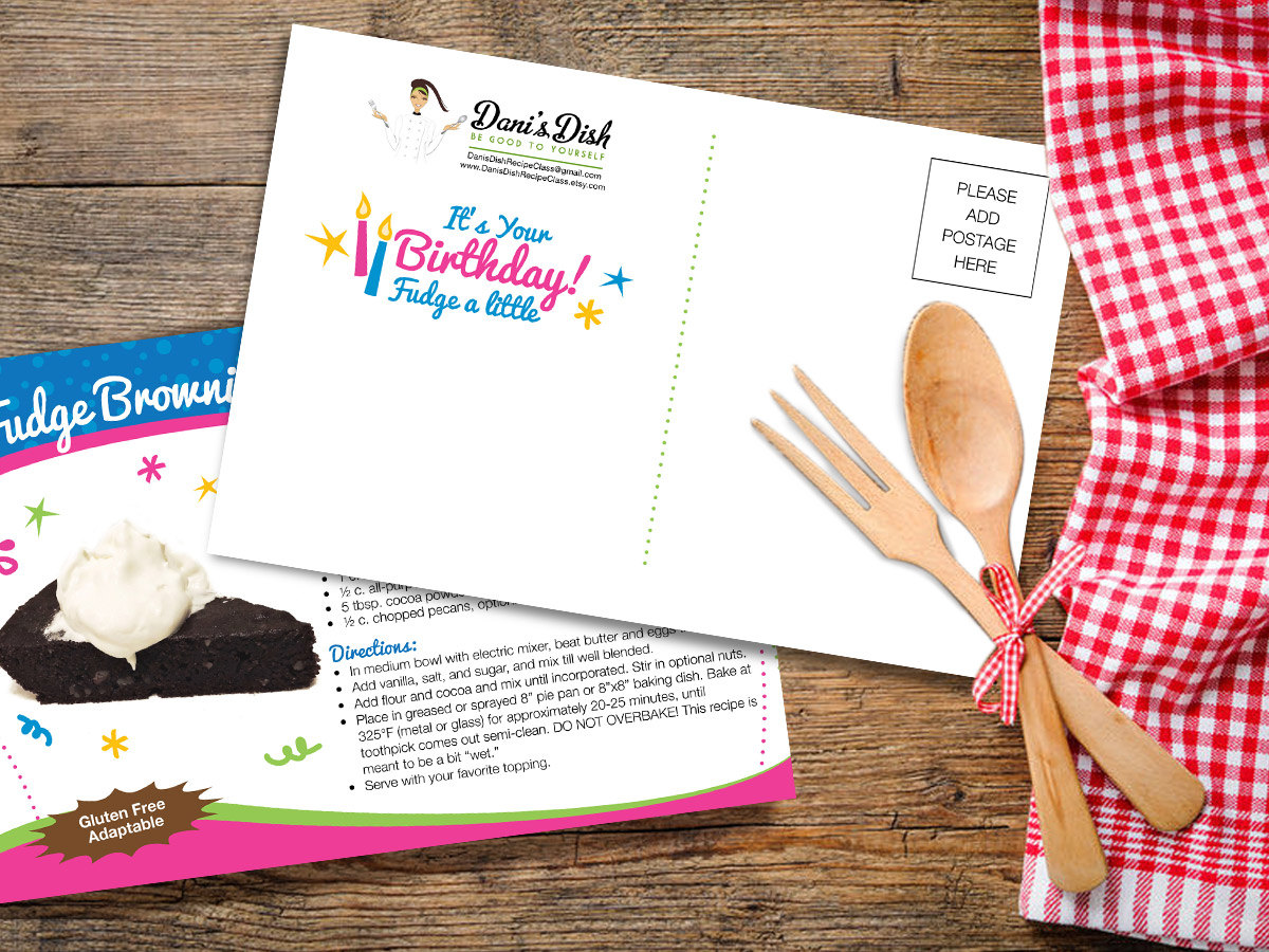 its your birthday recipe postcard example