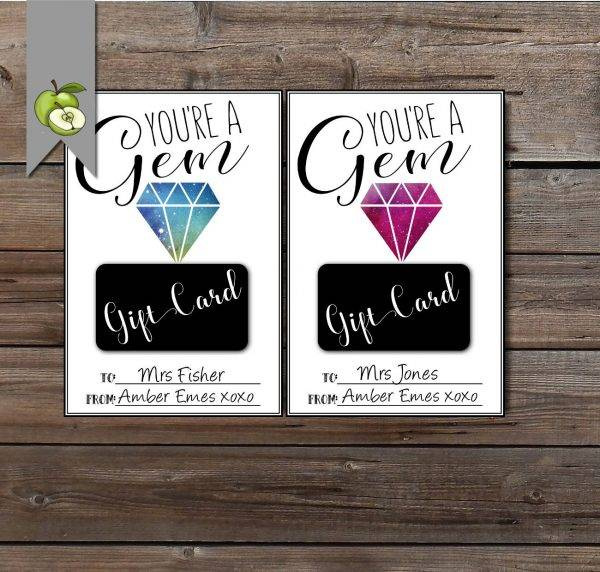 jewelry thank you gift card or voucher example