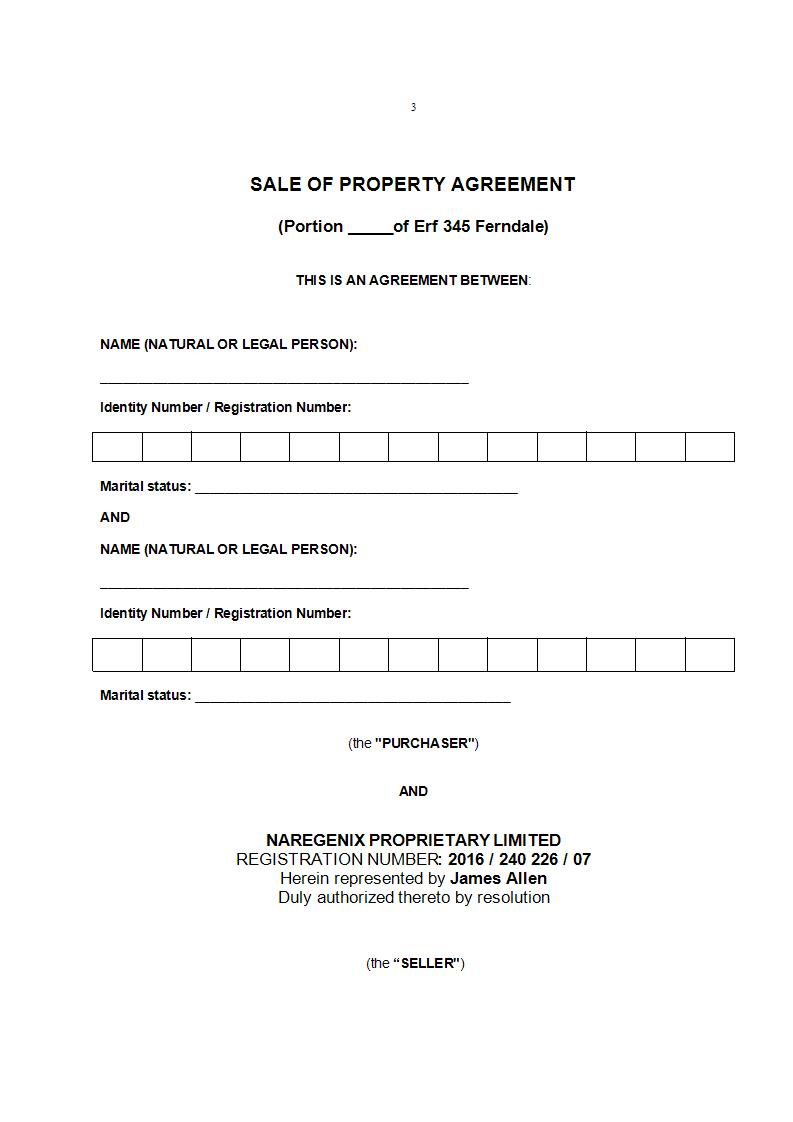 land sale agreement example