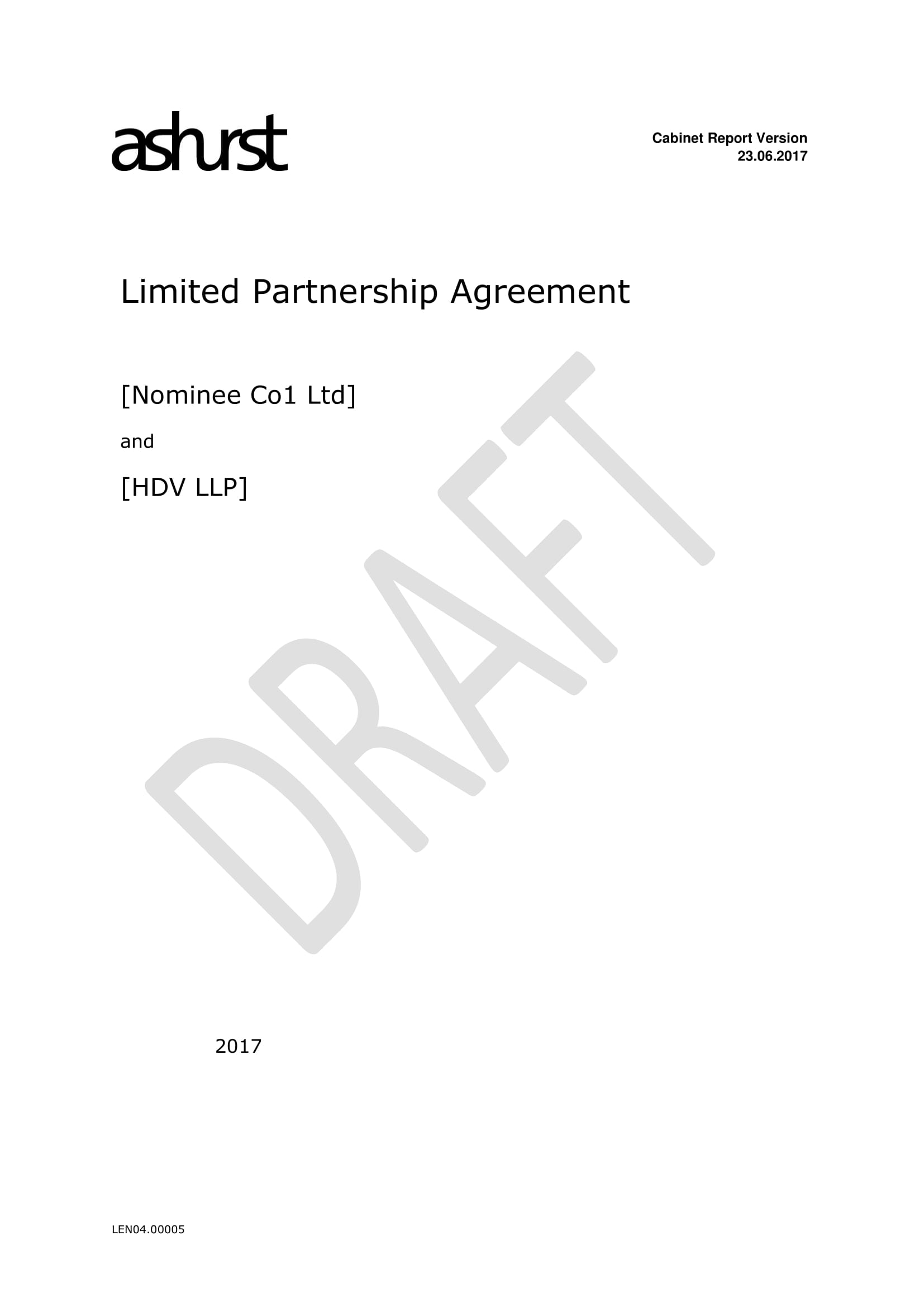 limited partnership agreement example
