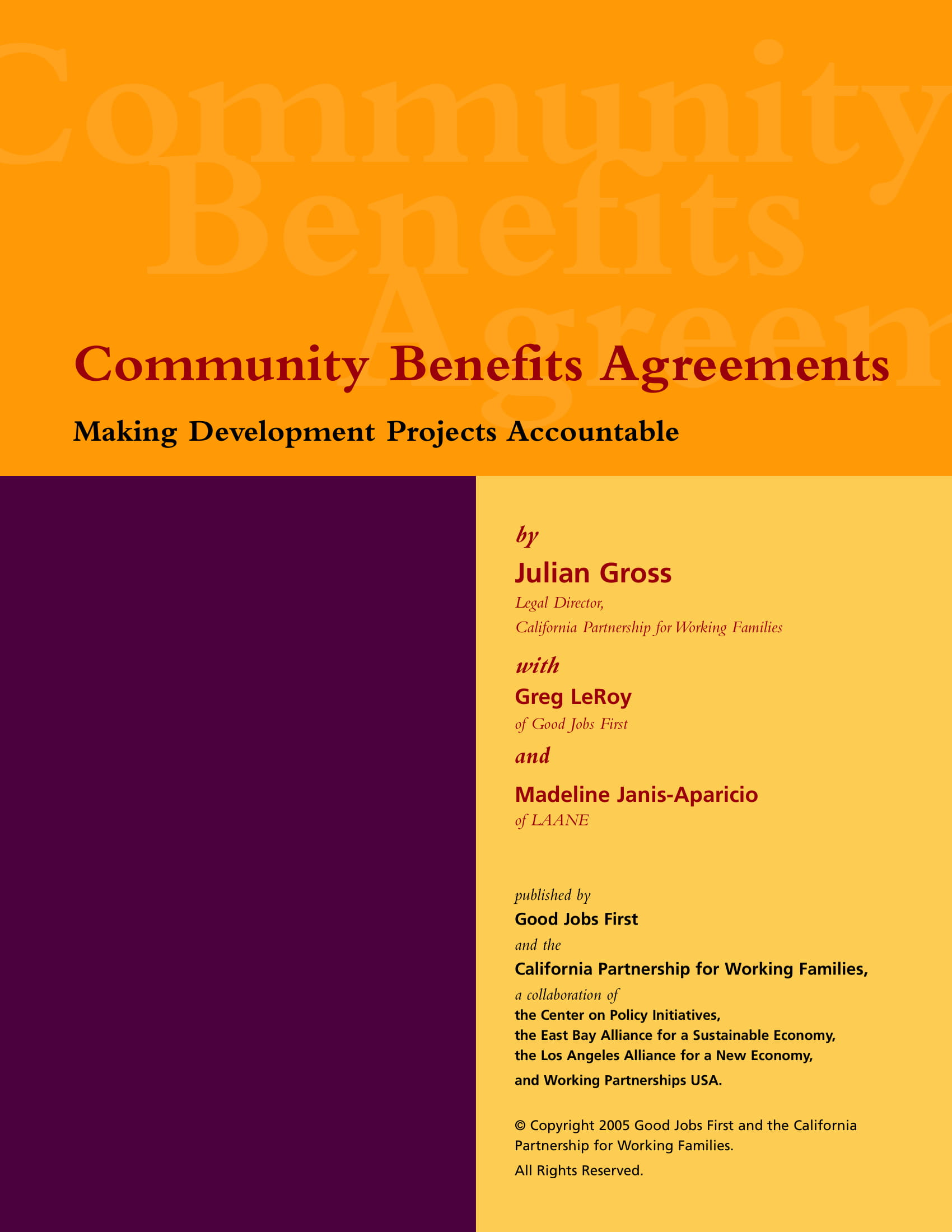 local community benefits agreement example