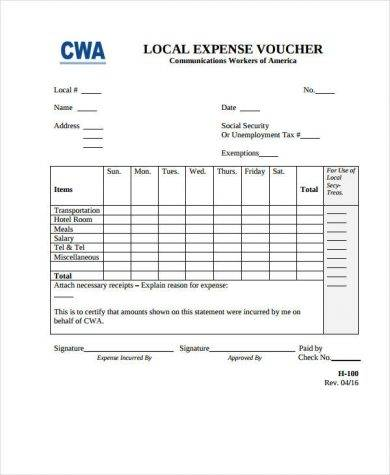 local expense voucher1