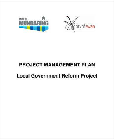 local government reform project management plan