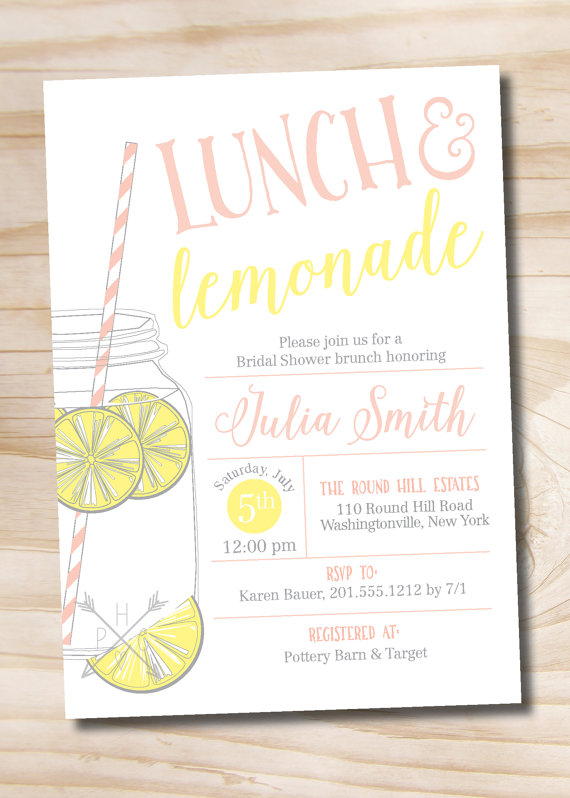 lunch and lemonade invitation example