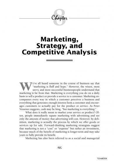 marketing strategy and competitive swot analysis example