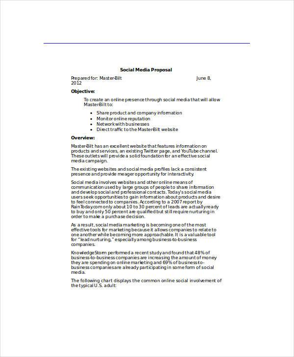 master bilt social media proposal
