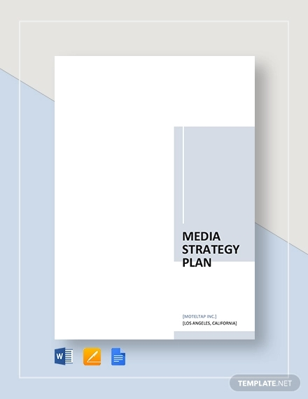 media strategy plan template