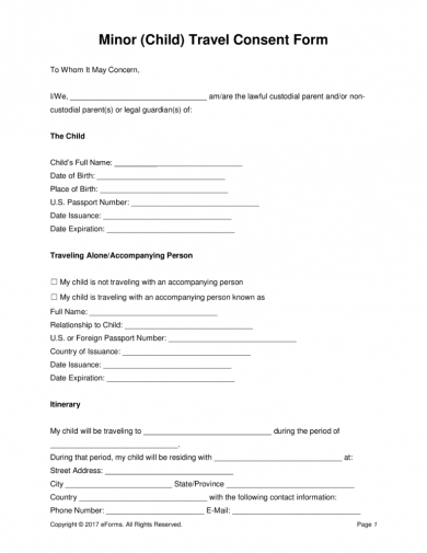 17 authorization letter for a child to travel examples pdf minor child travel consent form spiritdancerdesigns Choice Image