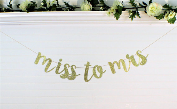 miss to mrs bridal shower banner example