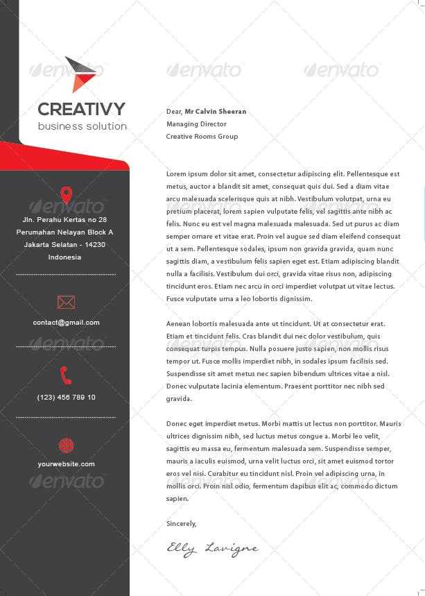 modern corporate letterhead
