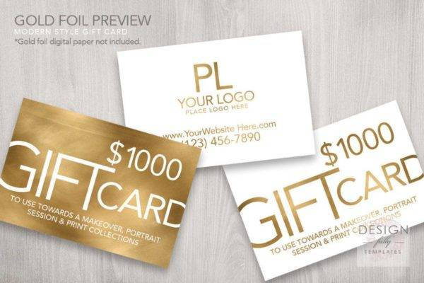 modern style gold gift voucher example1