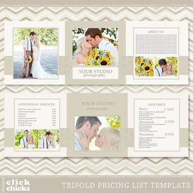 Modern Wedding Price List Template