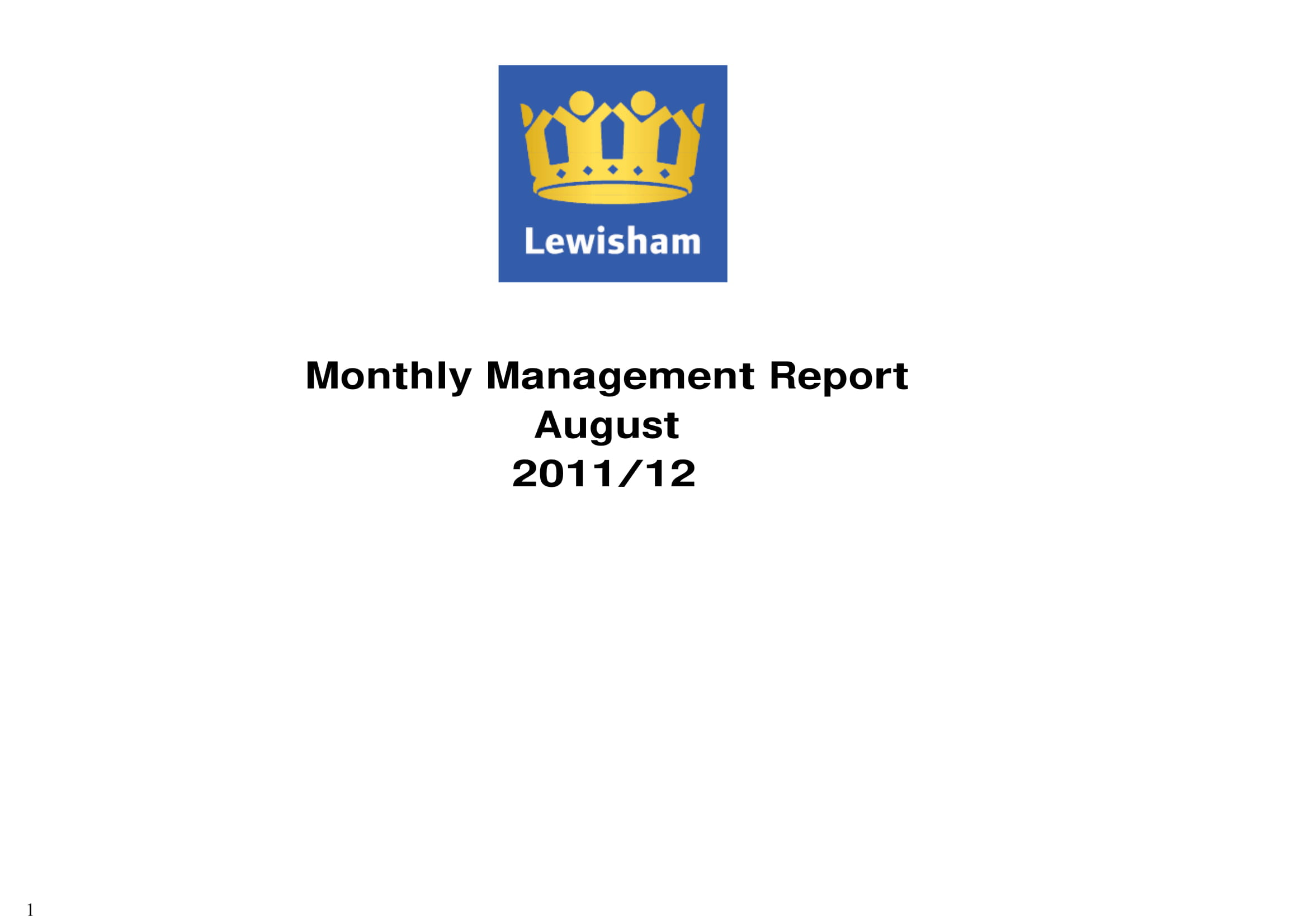 monthly business management report example 01