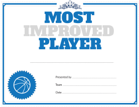 most improved player award
