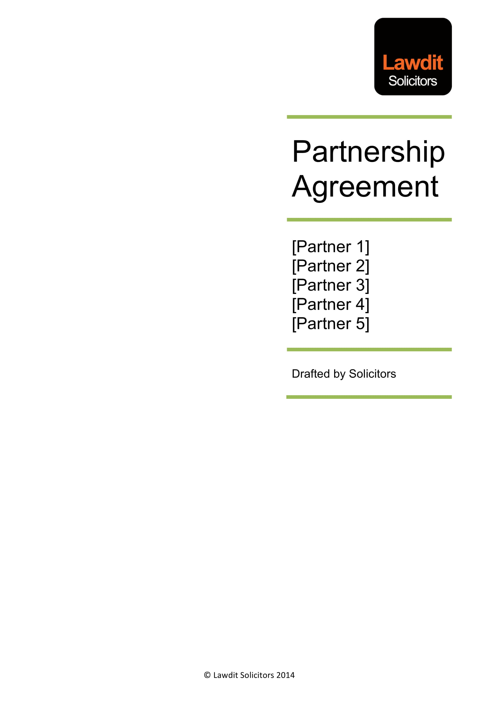 multiple partners partnership agreement example