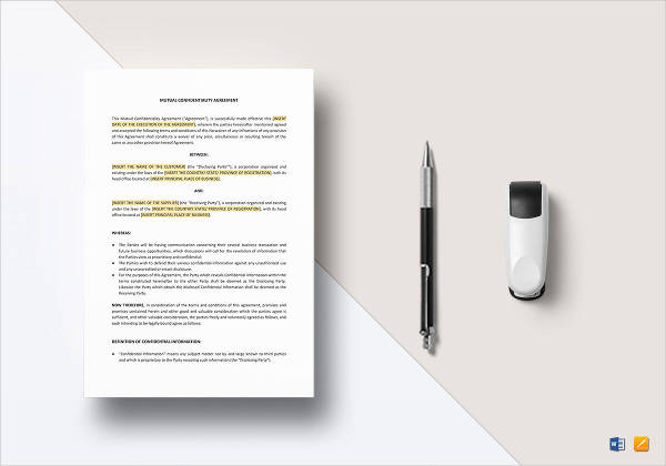 mutual confidentiality agreement example2