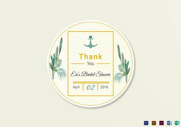 nautical wedding label example1