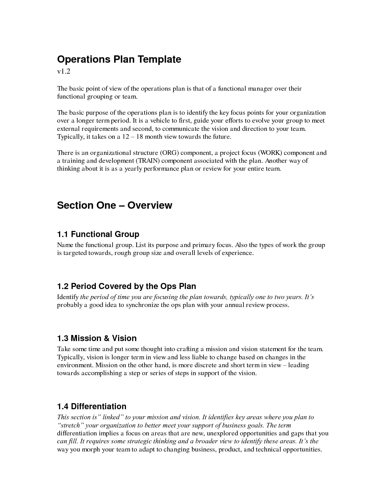 9 operational plan for restaurant examples pdf new operational plan template example cheaphphosting Gallery
