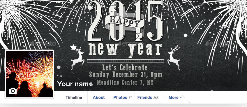 new year party announcement facebook cover example