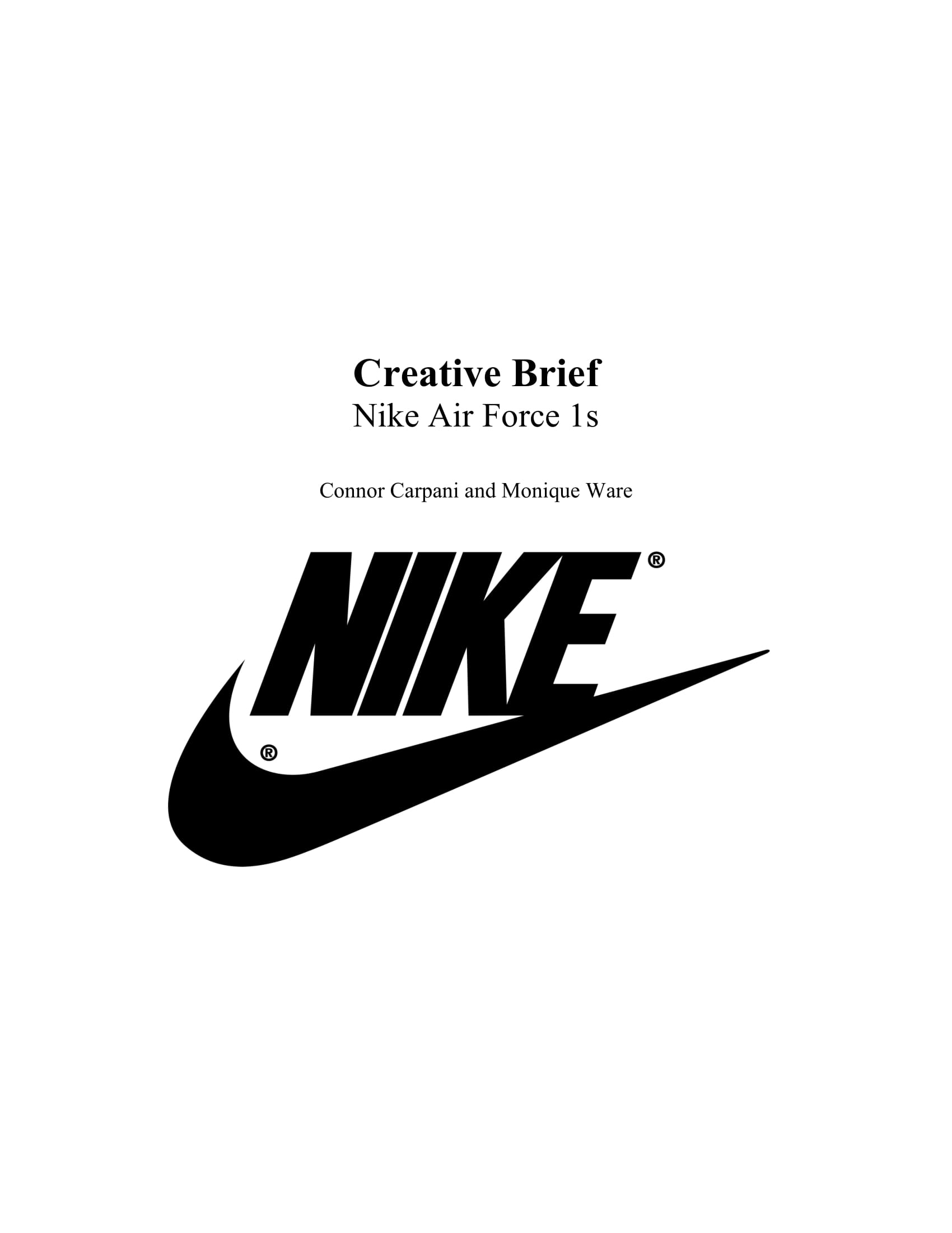 nike creative project brief example