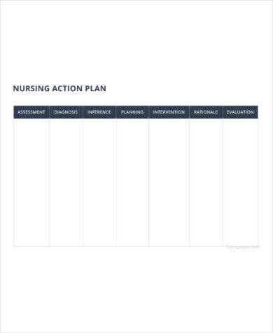 nursing action plan template2