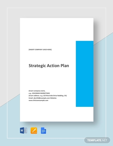 one page strategic action plan