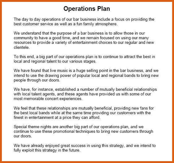 9 operational plan for restaurant examples pdf operational plan outline example accmission